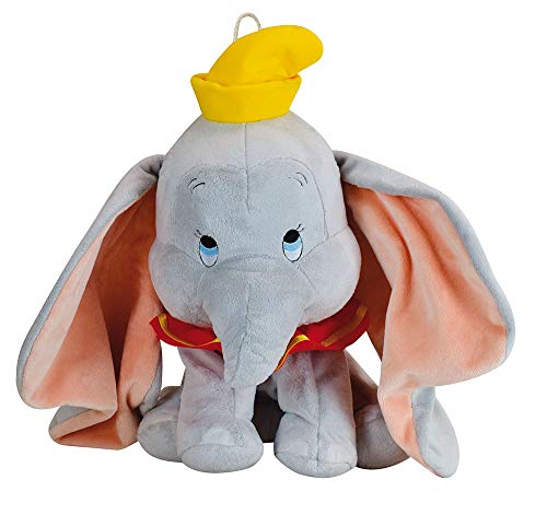Jemini - Peluche de Dumbo de Peluche para Pijama +/40 cm, Color Gris