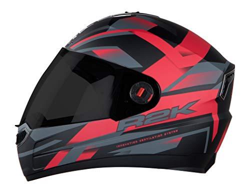 Steelbird R2K Full Face Graphics Helmet in Matt Finish with Plain Visor...