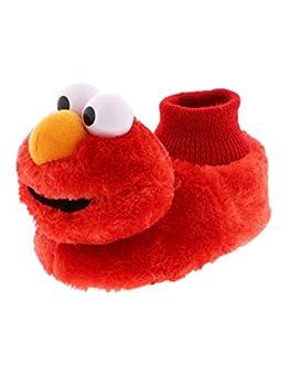 Sesame Street Elmo Little Kids Sock Top Slippers  7-8M US Toddler Laugh Red