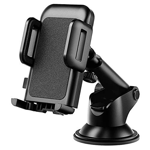 mpow iphone 6 plus car mounts Car Phone Mount, Phone Holder for Car, Easy Installation with One-Touch Design Dashboard Windshield Car Phone Holder Compatible iPhone 12/11/11 Pro/Xs Max/XS/XR/X/8/7, Galaxy, Moto and More