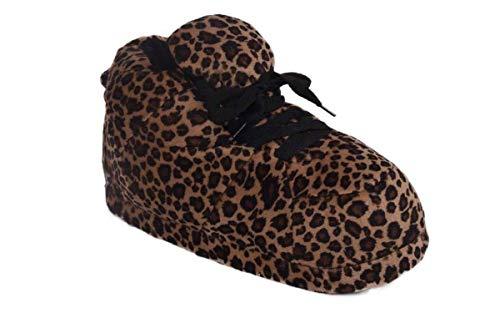 1088-2 - Snooki's Leopard Print - Medium - Happy Feet Snooki Slippers