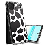 for LG K92 5G Case,for LG K92 5G Phone Case,Spsun Dual Layer Transparent Acrylic Backing + TPU Soft Clear Shockproof Protective Phone Case Cover for LG K92 5G 2021 Release - Cow Texture