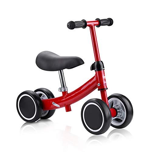 Cocoarm Kinder Laufrad Spielzeug Lauflernrad 1 Jahre Kleinkind Dreiräder Balance Roller Balance Training Mini Bike Erst Fahrrad für Jungen Mädchen 1-2 Jahre Alt (Rot)
