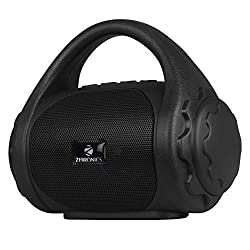 Zebronics Zeb-County Bluetooth Speaker with Built-in FM Radio, Aux Input and Call Function (Black),Zebronics,Zeb-County