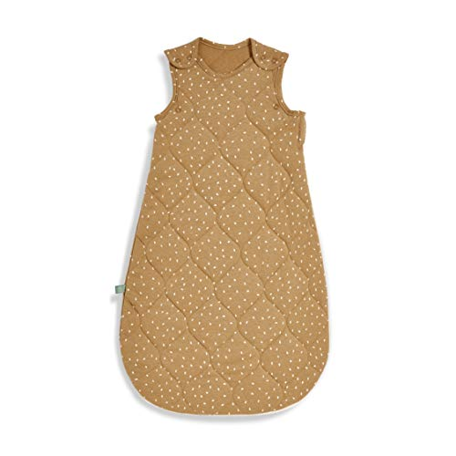 The Little Green Sheep Bedruckter Leinen Schlafsack 1 Tog, 327 g, 6-18 Monate, Honig mit Leinen-Reisdruck