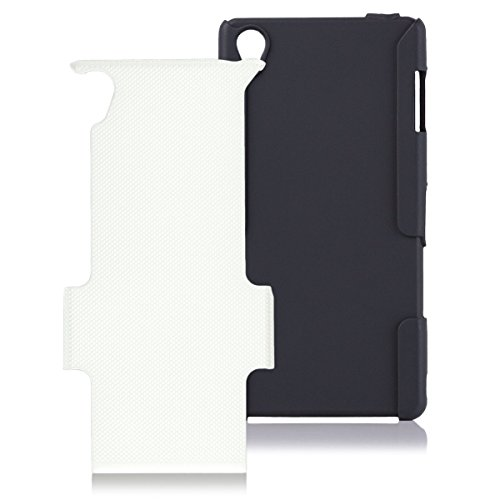 iCues - Custodia Rigida per Sony Xperia Z3 con 2 Parti, Colore: Bianco