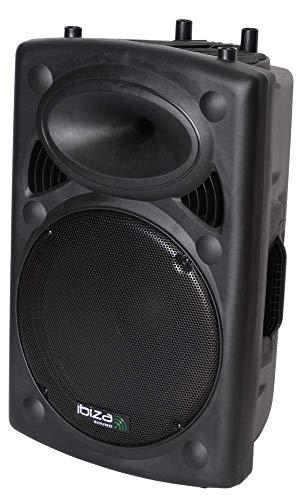 """IBIZA SLK15A-BT AKTIVE 15"""" LAUTSPRECHERBOX 800W BLUETOOTH USB MP3 PARTY DISCO MUSIK EVENT DJ BÜHNE BESCHALLUNGSANLAGE SOUNDSYSTEM"""
