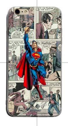 Art Design Funda iPhone 7+ Plus/iPhone 8+ Plus Superman Marvel Super Heros Super heroe Carcasa de Moviles Fundas Carcasas Caso Silicón