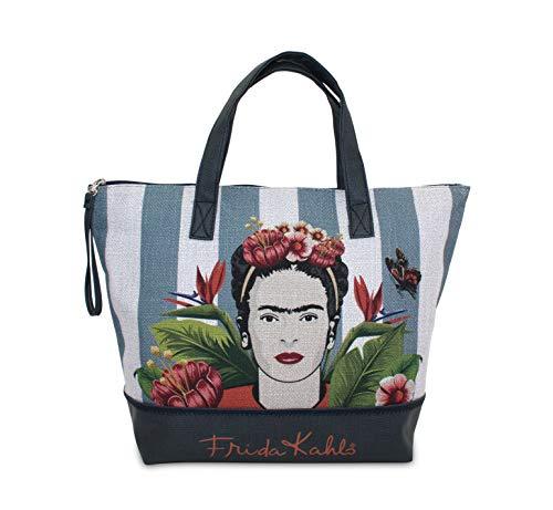 Bolso de Tela Grande con Estampado de Frida KALHO. Ideal para IR a la Playa o Hacer la Compra. Perfecto como Regalo.