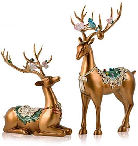HZYDD Decoraciones europeas Rehzimmer, armario de vino, soporte de TV, adornos, manualidades, regalos de boda, decoraciones de boda (color: C) (color: D)