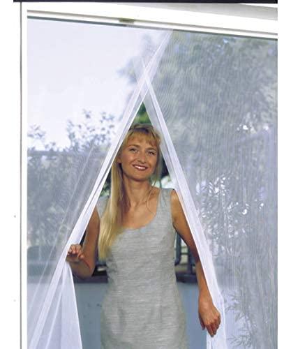 BricoShopping® ZANZARIERA Moschiera adesiva con strappo facilmente REGOLABILE universale per porta finestra balcone camper con nastro adesivo anti insetti zanzare fai da te ((2x75) x250 cm, Bianco)