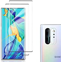 [4 Pack] Galaxy Note 10 Screen Protector Include 2 Pack Tempered Glass Screen Protector +2 Pack Tempered Glass Camera Lens...