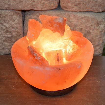 Natural Himalayan Rock Salt Lamp Christmas Gifts Stylish Wood Base /& Bulb with On and Off Switch 6-8 Inches 5-7 lbs Cylinder Shape