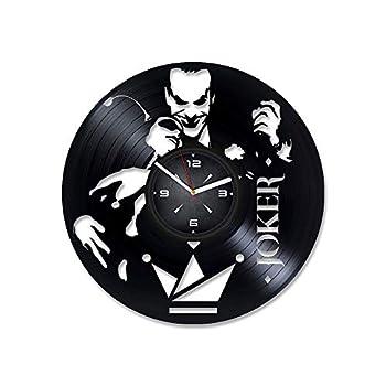 Joker Harley Quinn Vinyl Record Wall Clock Decor for Bedroom Living Room Kids Room Gift for Men or Women Christmas Birthday Holiday Housewarming Present.