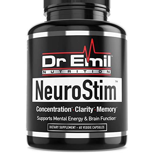 Dr. Emil NeuroStim - Nootropic Brain Supplement for Memory, Focus, Clarity & Concentration with Huperzine A, DMAE & Glutamic Acid (60 Veggie Capsules)