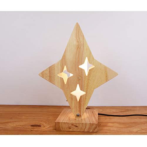 L¨¢mpara de mesa lunar n¨rdica l¨¢mpara de estrella de cama de madera moderna mini LED sala de estar para ni?os sala de estar l¨¢mpara de mesa l¨¢mpara de ahorro de energ¨ªa