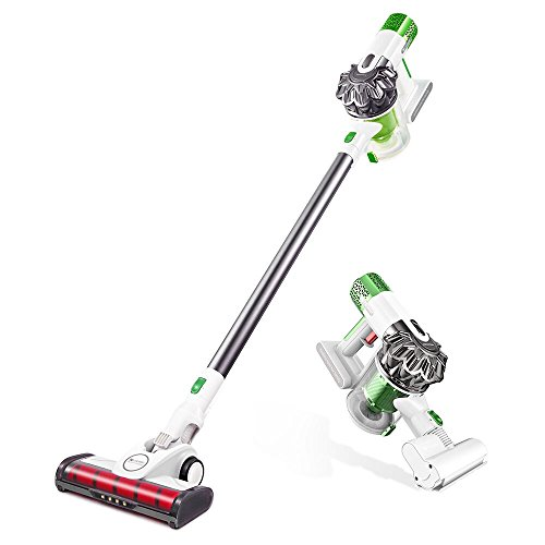 Proscenic Cordless Stick Vacuum, 2-in-1 Cordless Vacuum Cleaner, Powerful Suction Handheld Bagless Stick Vacuum with LED Headlight, Charging Base, Long Lasting, Lightweight, Pets Free