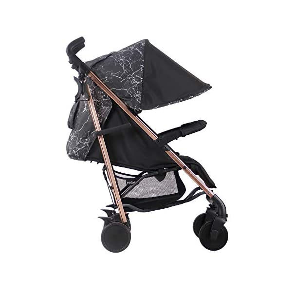 My Babiie Dreamiie by Samantha Faiers MB51 Black Marble Stroller My Babiie Suitable from birth to maximum 15kg Extendable 3 position canopy Lockable swivel front wheels 5