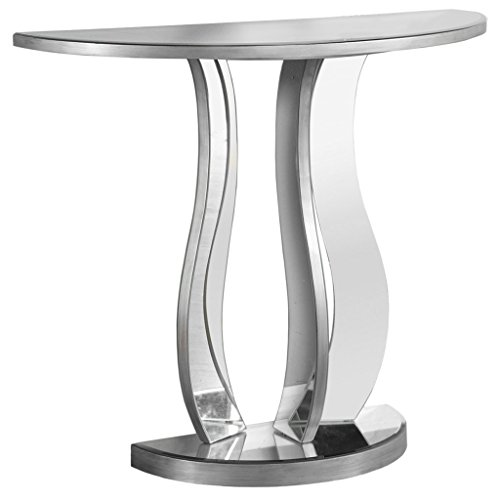 """Monarch Specialties I Accent Sofa Hall Console Table, 32.5""""H, Brushed Pewter"""