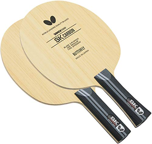 Butterfly SK Carbon Table Tennis Blade - TAMCA 5000 Carbon Fiber Blade - Professional Table Tennis Blade - Available in FL and ST Shakehand Handle Styles - Made in Japan