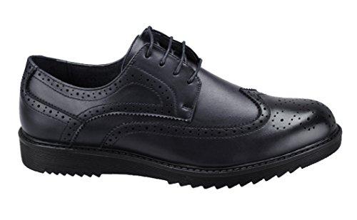 scarpe francesine uomo AK collezioni Scarpe parigine uomo nero casual eleganti francesine man's shoes (42)