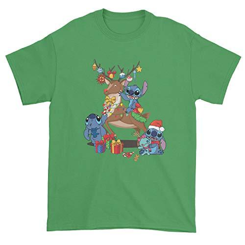 Camiseta de Navidad con diseño de punto y reno, ideal para regalo, sudadera con capucha, sudadera, camiseta de regalo de Navidad