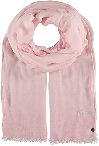FRAAS Damen-Schal aus 100% Viskose - 100 x 200 cm Größe - Modische einfarbige Stola mit Fransen - Perfekt für den Frühling und Sommer Tearose