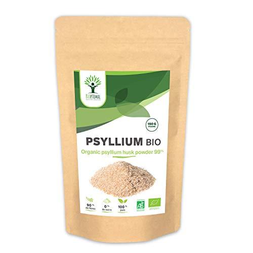 Psyllium - Bioptimal - Psyllium Bio - Complément Alimentaire - Psyllium Poudre - Superaliment - Energie - Sport BCAA - Made in France - Certifié Ecocert - 150g
