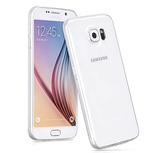NEW'C Coque Compatible avec Samsung Galaxy S6, Ultra Transparente Silicone en Gel TPU Souple Coque de Protection avec Absorption de Choc et Anti-Scratch