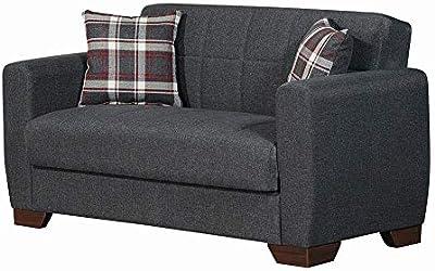 Danube Home Barato 2 Seater Fabric Sofa - Gray