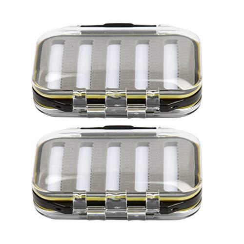 BESPORTBLE 2 Stück Fliegenfischer Box wasserdichte Fliegenbox für Forellen Fliegenfischen Fliegen