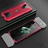 for Xiaomi Black Shark 3 Trois étape Splicing de Protection Couverture complète PC Case (Couleur: Noir), StarLightd (Color : Red)