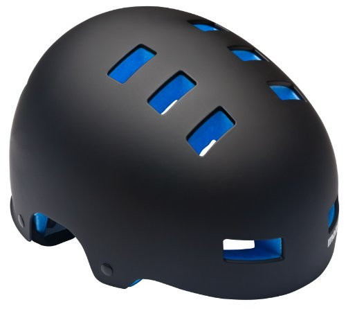 Mongoose Youth Street Bike Hardshell Helmet, Black/Blue