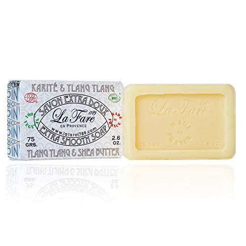 la Fare 1789 Zeep Extra Smooth Shea Butter Ylang Bio, 75 G