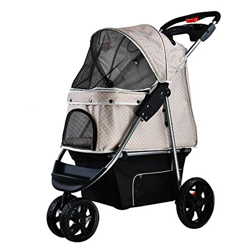 Stroller for Dogs, Stroller for Dogs,Pet Strollers for Small Medium Dogs & Cats - 3 Wheels Elite Jogger - Carriages Best for Cat & Large Puppy (Color : Gray)