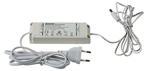 HEITRONIC LED Vorschaltgerät MECANO 24V DC, 20W, mit 1,4m Anschlusskabel + Eurostecker, mit 1,8m Verbindungskabel + Stecker