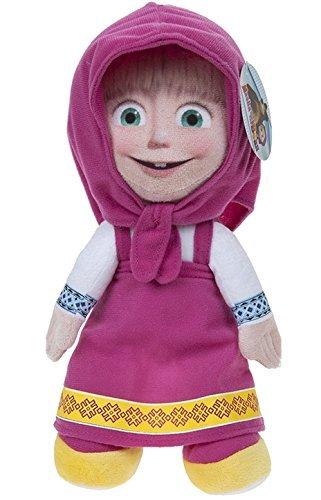 """MASHA Y EL OSO - Peluche personaje """"Masha"""" (sentada 21cm/de pie 27cm) de la película """"Masha y el oso"""" - Calidad Super Soft"""