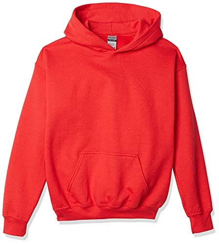 Gildan Youth Hooded Sweatshirt, Style G18500B, Red, X-Large