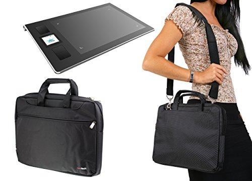Navitech Schwarz Tragbarer Grafiktablett Tasche Schutz hulle fur den huion H950P