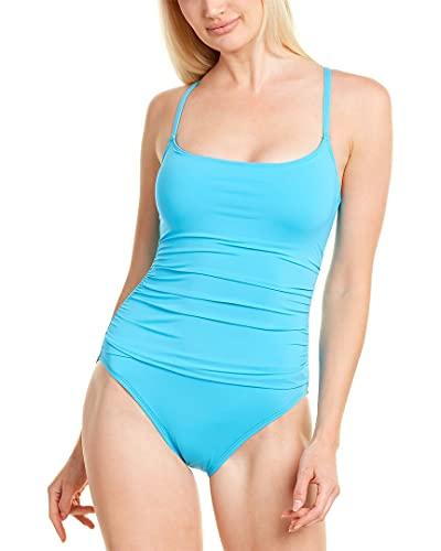 La Blanca Women's Island Goddess Rouched Body Lingerie Mio One Piece Swimsuit, Poolside, 10