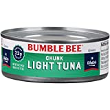 BUMBLE BEE Chunk Light Tuna In Water, Wild Caught, High Protein Food,...