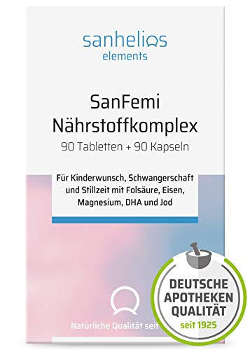 "Sanhelios SanFemi – ""Folsäure, Omega 3 plus Nährstoffkomplex"" – zur..."