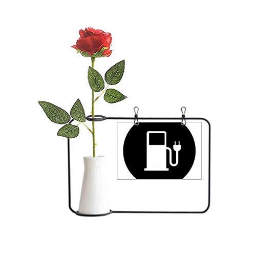 Beauty Gift Charing Station Vehículos Energéticos Proteger el Medio Ambiente Flor Artificial Floreros...