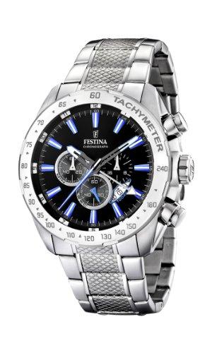 Festina Herren Chronograph Quarz Uhr mit Edelstahl Armband F16488/3
