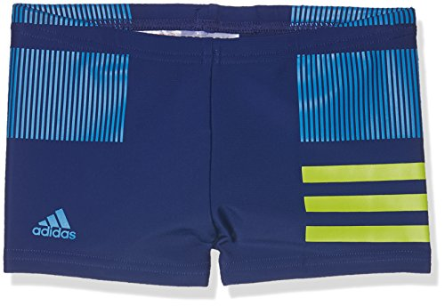 adidas Jungen Infinitex Colourblock 3-Streifen Boxer Badehose, Mysink/Sesoye/Brblue, 164