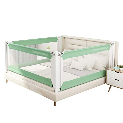 Review Of XJJUN Bed Rail Crib Guardrail 4 Sides Height Adjustable Safety Mesh Cloth Breathable Lifti...