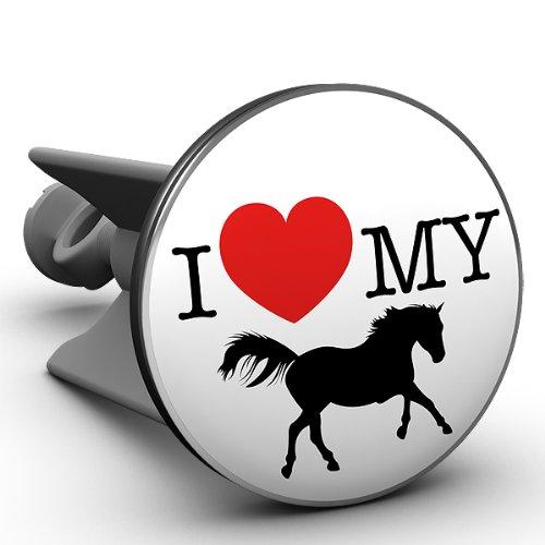Waschbecken Stöpsel I love my horse das Original von Plopp®, Qualität made in Germany