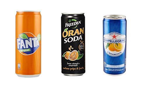 TESTPAKET Aranciata San Pellegrino Fanta Oransoda Orangenlimonade dose (72 x 330ml) Italienische Orangen