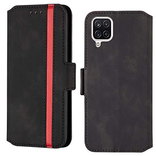 ARRYNN Handyhülle für Samsung Galaxy A42 5G Hülle,Lederhülle Samsung Galaxy A42 5G Flip Cover,Premium Schutzhülle Magnet Ledertasche für Samsung Galaxy A42 5G (R-Schwarz)