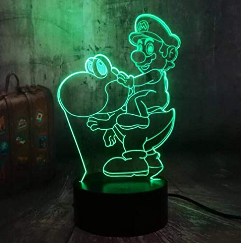 xcdfr 3D Night Lights LED Table Lamp Game Action Figure Super Mario Bros Multicolor 7 Color Decoration Party Decoration Kid Gifts Kids Toys